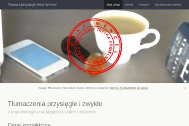 Anna Wencel - tłumacz przysięgły języka angielskiego - Tłumaczenia przysięgłe Gdańsk