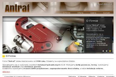 Antraf. Hydraulik, usługi hydrauliczne - Usługi Hydrauliczne Dobroń Mały