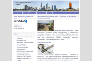 Apegeo Usługi Geodezyjne Artur Perła - Geodeta Poznań