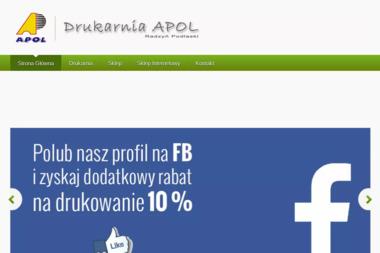Agencja Poligraficzno-Handlowa APOL Jolanta Niewęgłowska - Drukarnia Radzyń Podlaski