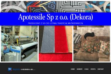Apo-Tessile Sp. z o.o. Produkcja, sprzedaż tkanin samochodowych i meblowych - Nowoczesne Szycie Firan Żary