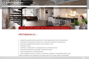 Archiplaneo. Urbanistyka, architektura wnętrza - Projekty domów Kielce