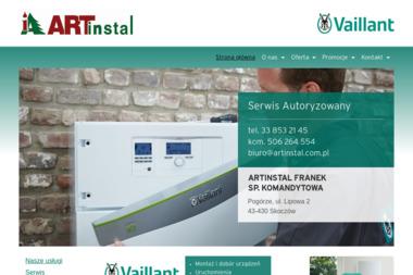Art Instal Przedsiębiorstwo Inżynieryjne Artur Franek - Usługi Hydrauliczne Skoczów