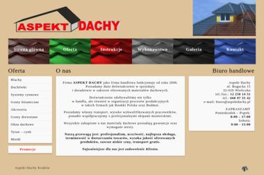 Aspekt Dachy - Producent Okien PCV Wieliczka