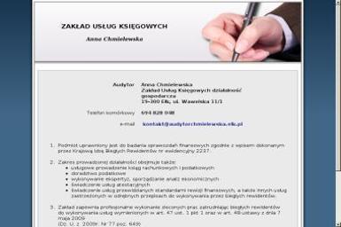 Zakład Usług Księgowych Anna Chmielewska - Usługi finansowe Ełk