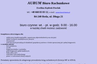 Aurum Biuro Rachunkowe - Usługi finansowe Reda