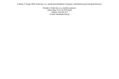 Avalia Sp. z o.o. - Kredyt hipoteczny Sopot