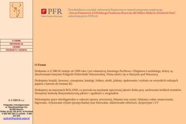 Poligrafia i Introligatorstwo A z Druk S.C. Puchlew A Luziński Z - Drukarnia Raszyn