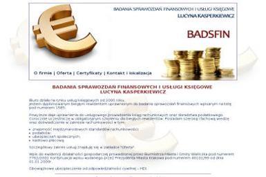 Badsfin Badania Sprawozdań Finansowych i Usługi Księgowe Lucyna Kasperkiewicz - Biuro rachunkowe Pawlikowice