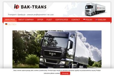 Bak Trans Helbik Dariusz - Transport ciężarowy krajowy Rydzyny