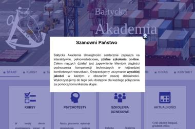 Bałtycka Akademia Umiejętności S.C. Kursy, Szkolenia Zawodowe, Psychotesty - Szkolenie bhp dla Pracodawców Gdańsk