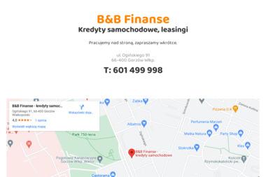 B&B Finanse - kredyty samochodowe. - Leasing samochodu Gorzów Wielkopolski
