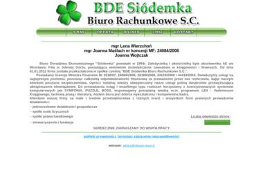 Bde Siódemka Biuro Rachunkowe S.C. - Prowadzenie Ksiąg Rachunkowych Kowary