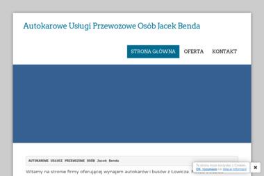 Przewozy autokarowe Jacek Benda - Transport Autokarowy Łowicz