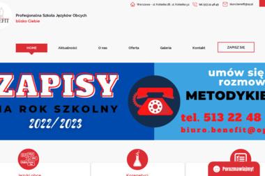 Benefit - Lekcje Angielskiego Warszawa