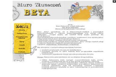 Biuro Tłumaczeń Usługi Edukacyjne Beta Beata Jankowska - Tłumacze Sanok