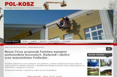Pol-Kosz Usługi Budowlane Podnosnikiem Marcin Jankowski. Prace na wysokości - Usługi Wysokościowe Białystok