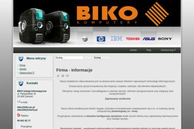 Biko Usługi Informatyczne - Hurtownia odzieży Zamość