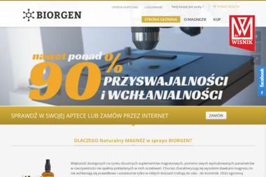 Biorgen - Strony internetowe Reguły