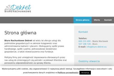 Biuro Rachunkowe Dekret S.C. Beata Wacławek Małgorzata Kornacka - Prowadzenie Kadr i Płac Milanówek
