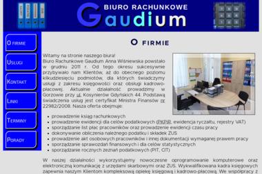 Biuro Rachnkowe Gaudium Anna Wiśniewska - Biuro rachunkowe Gorzów Wielkopolski