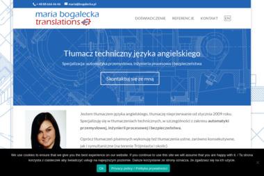 Maria Bogalecka Translations - Tłumacze Reda