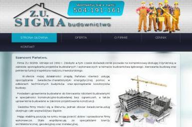 ZU Sigma. Kierownik budowy, kosztorysy - Nadzór Budowlany Bieruń