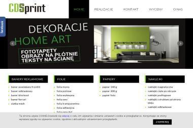 CDSprint. Drukarnia Wielkoformatowa - Druk wielkoformatowy Pabianice