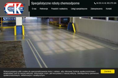 Zakład Robót Chemoodpornych i Ogólnobudowlanych Chemikor Kalociński Spółka Jawna - Murowanie ścian Włocławek