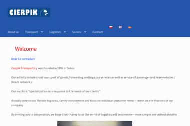Transport S.C. Ireneusz Cierpik Piotr Cierpik - Transport Chłodniczy Gubin