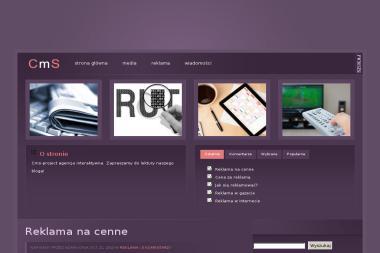 CMS Project Arkadiusz Wykrota. Pozycjonowanie stron, strony www - Linki sponsorowane, banery Opole