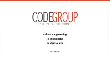 Codegroup. Tworzenie oprogramowania, systemy b2b b2c crm - Strony internetowe Kolbuszowa