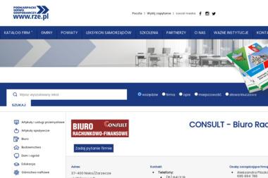 Consult. Biuro rachunkowo-finansowe. Pliszka A. - Biuro rachunkowe Zarzecze