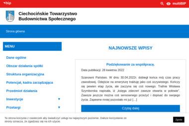 Ciechocińskie Towarzystwo Budownictwa Społecznego Sp. z o.o. - Tynkowanie Maszynowe Ciechocinek
