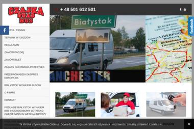 Czajka Quad transport bus Białystok - Anglia Londyn Manchester - Przeprowadzki Solniczki