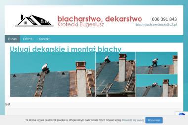 Blacharstwo Dekarstwo Budowlane Eugeniusz Krotecki - Firma Dekarska Strzałkowo