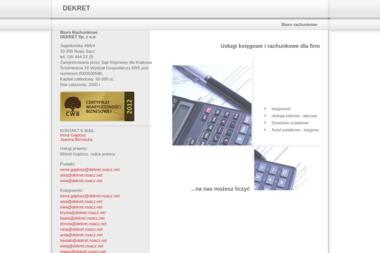 Biuro Rachunkowe Dekret Sp. z o.o. - Firma Księgowa Nowy Sącz