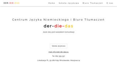 Centrum Nauki Języka Niemieckiego i Biuro Tłumaczeń der-die-das - Kurs niemieckiego Kąty Wrocławskie