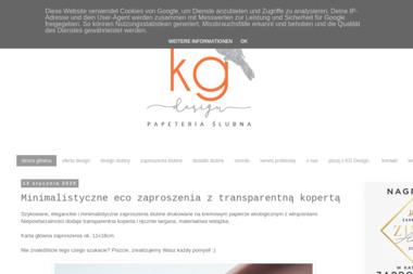 KG Design Gabriela Kmiecik - Wizytówki Bochnia
