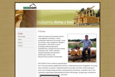 EKO DOM - Domy z bali. Krzysztof Trochanowski - Firma Budująca Domy z Bali Kotla