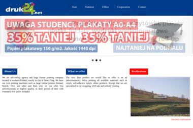 druk24.net. Banery reklamowe, drukarnia - Drukarnia Nowy Targ