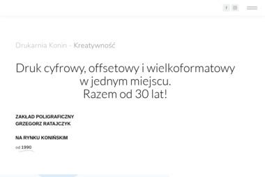 Zakład Poligraficzny Grzegorz Ratajczyk - Drukowanie Konin