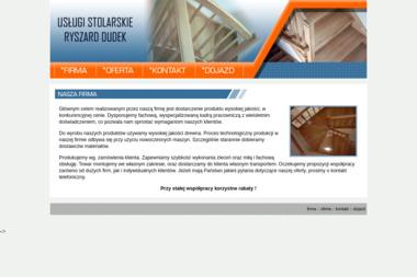Ryszard Dudek. Usługi Stolarskie Schody, Parapety, Stolarka Budowlana - Schody Drewniane Nowy Sącz