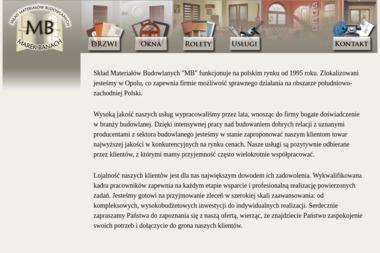 """Skład Materiałów Budowlanych """"MB"""" - Okna PCV Opole"""