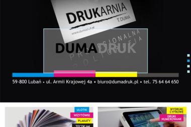 Poligrafia Handel Art Przemysłowymi Import Export Duma Tadeusz - Drukarnia Lubań