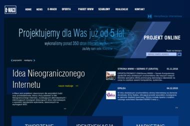 PU e-Maco. Tworzenie stron www, pozycjonowanie - Wykonanie Strony Internetowej Krotoszyn
