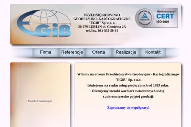 Przedsiębiorstwo Geodezyjno - Kartograficzne Egib Sp. z o.o. - Geodeta Lublin