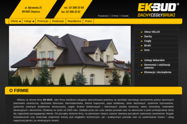 EK-BUD Dachy-Cegły-Bruki Jakub Rostankowski - Okna Chojnice