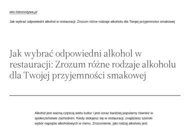 Restauracja Lokomotywa - Catering świąteczny Puszczykowo
