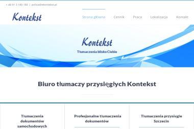 Biuro Tłumaczy Przysięgłych Kontekst - Tłumacze Goleniów